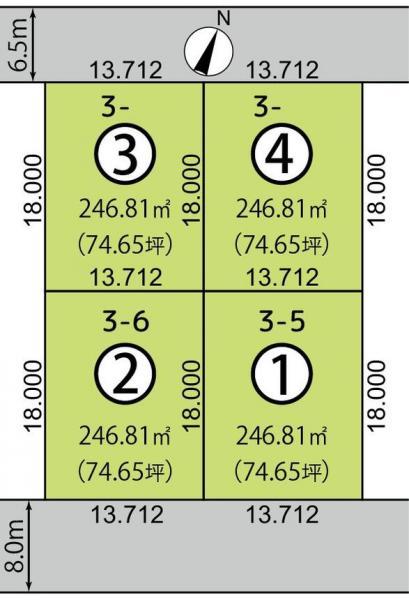 北海道苫小牧市日新町6丁目3番5、6ほか JR室蘭本線(長万部・室蘭~苫小牧)[糸井]の売買2区画以上の土地物件詳細はこちら